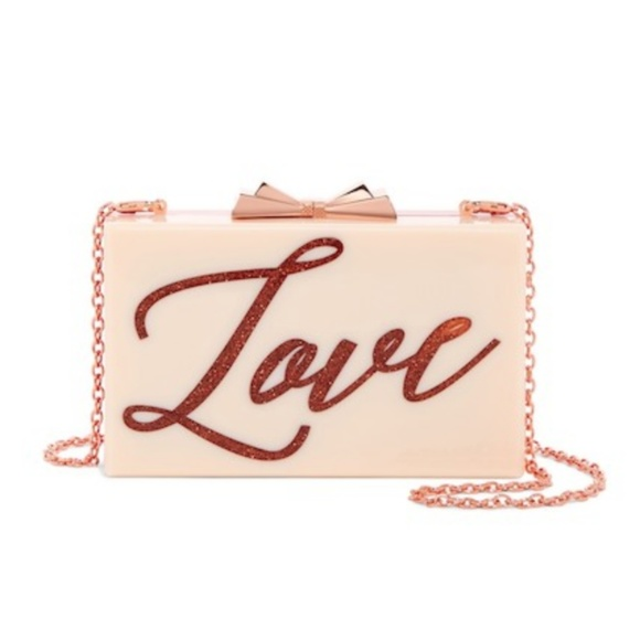 ea273e7a939e28 Ted Baker London Siann Glittery Love Resin Clutch